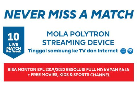 Nonton Siaran Liga Primer Inggris di Mola TV Streaming