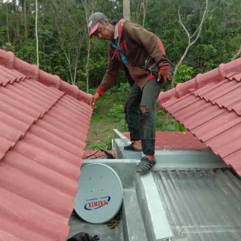 Pemasangan Parabola Mini di rumah Bp.Axos Gunung Pati, Pakintelan, Semarang